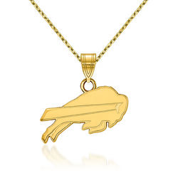 "14kt Yellow Gold NFL Buffalo Bills Small Pendant Necklace. 18"", , default"