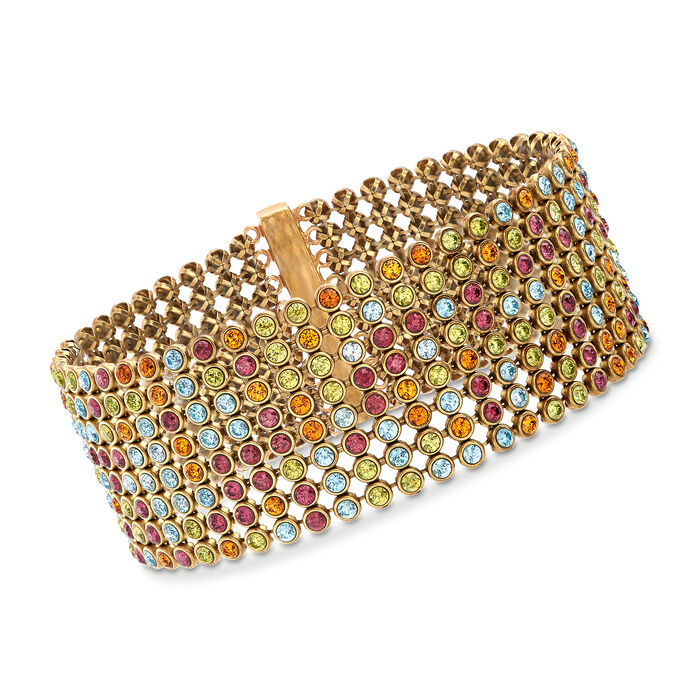 "C. 1980 Vintage 20.35 ct. t.w. Multi-Stone Bracelet. 7"""
