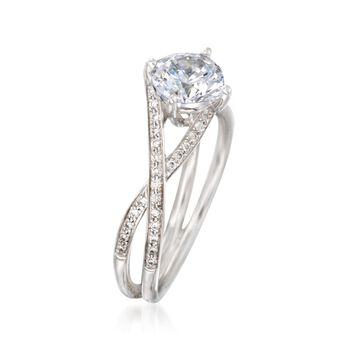 Simon G. .18 ct. t.w. Diamond Engagement Ring Setting in 18kt White Gold, , default
