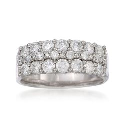 1.50 ct. t.w. Diamond Wedding Ring in 14kt White Gold, , default