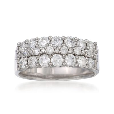 1.50 ct. t.w. Diamond Wedding Ring in 14kt White Gold, , default