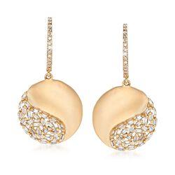 .44 ct. t.w. Diamond Disc Earrings in 14kt Yellow Gold , , default