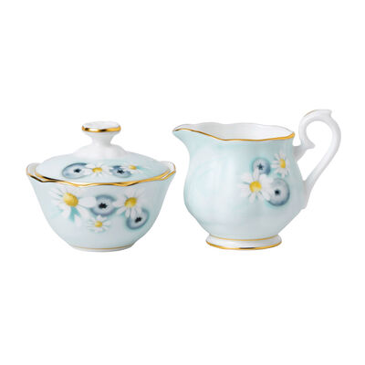 "Royal Albert ""Alpha Foodie"" Mini Cream and Sugar Set in Turquoise, , default"
