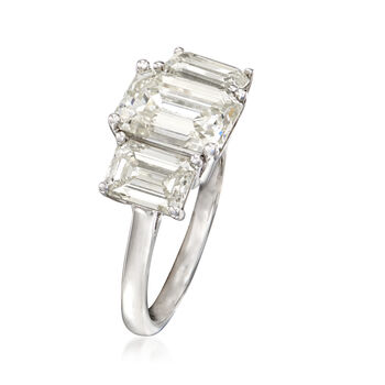 Majestic Collection 4.44 ct. t.w. Diamond Three-Stone Ring in Platinum, , default