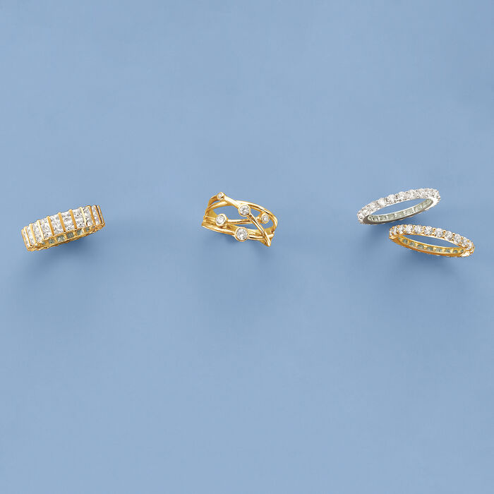 4.00 ct. t.w. CZ Eternity Band in 14kt Yellow Gold
