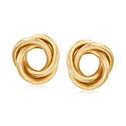C. 1990 Vintage 18kt Yellow Gold Triple Open-Circle Earrings, , default