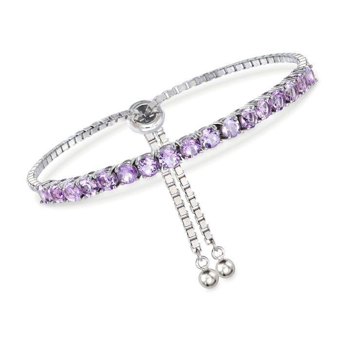 4.20 ct. t.w. Amethyst Bolo Bracelet in Sterling Silver, , default