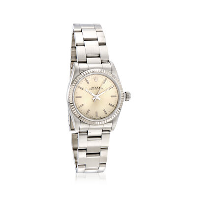 Pre-Owned Rolex Oyster Perpetual Women's 31mm Automatic Stainless Steel Watch with 18kt White Gold, , default
