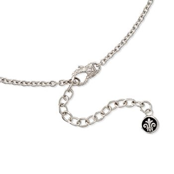 """Andrea Candela """"Laberinto"""" .14 ct. t.w. Diamond Drop Necklace in 18kt Gold and Sterling Silver. 17"""", , default"""