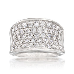 "Belle Etoile ""Lucia White"" 2.45 ct. t.w. CZ Ring in Sterling Silver, , default"
