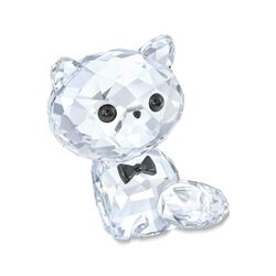 "Swarovski Crystal ""Kitten Cornelius the Persian"" Clear and Black Crystal Figurine, , default"