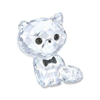 "Swarovski Crystal ""Kitten Cornelius the Persian"" Clear and Black Crystal Figurine, , default"