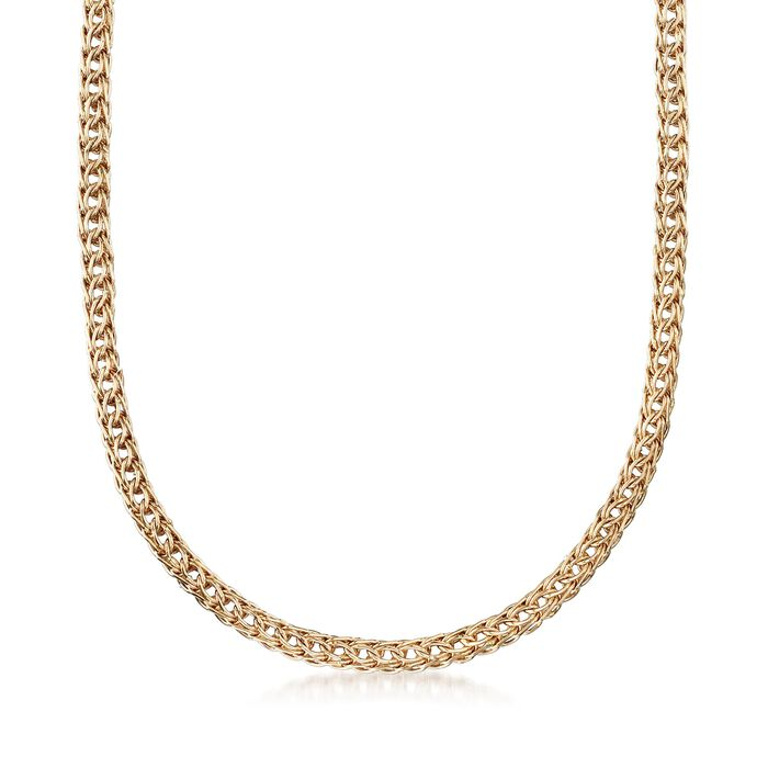 "14kt Yellow Gold Braided Link Necklace. 20"", , default"