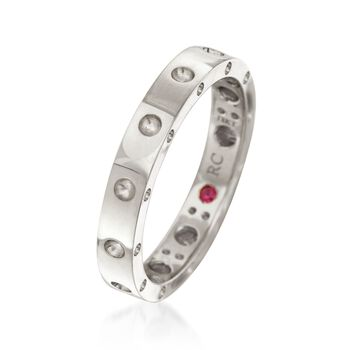 """Roberto Coin """"Symphony"""" Pois Moi 18kt White Gold Ring. Size 7, , default"""