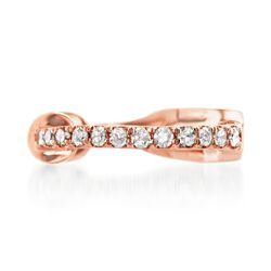 Diamond-Accented Single Ear Cuff in 14kt Rose Gold, , default