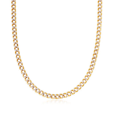 C. 2000 Vintage 22kt Two-Tone Gold Curb-Link Necklace