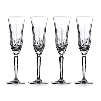 """Marquis by Waterford Crystal """"Maxwell"""" Set of 4 Flute Glasses from Italy, , default"""