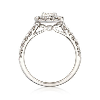 Henri Daussi 1.28 ct. t.w. Diamond Engagement Ring in 18kt White Gold, , default