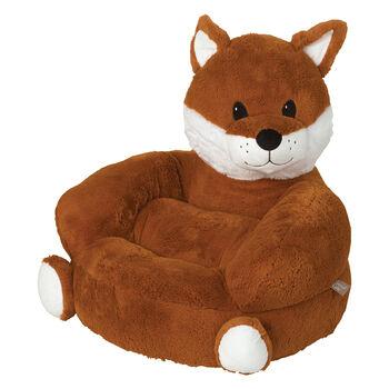 Children's Fox Plush Character Chair, , default