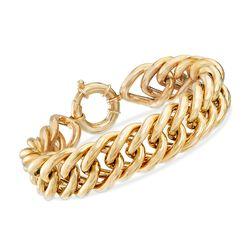 Italian 18kt Yellow Gold Curb-Link Chain Bracelet, , default