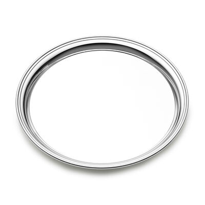 Empire Sterling Silver Round Presentation Tray, , default