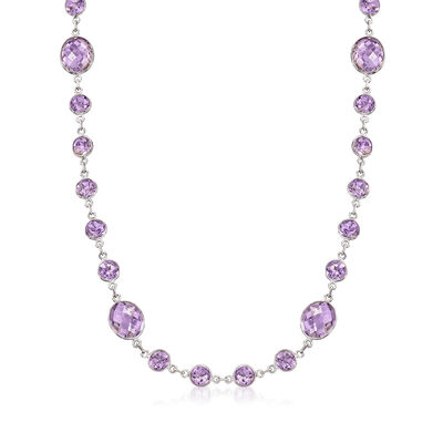 50.00 ct. t.w. Amethyst Necklace in Sterling Silver