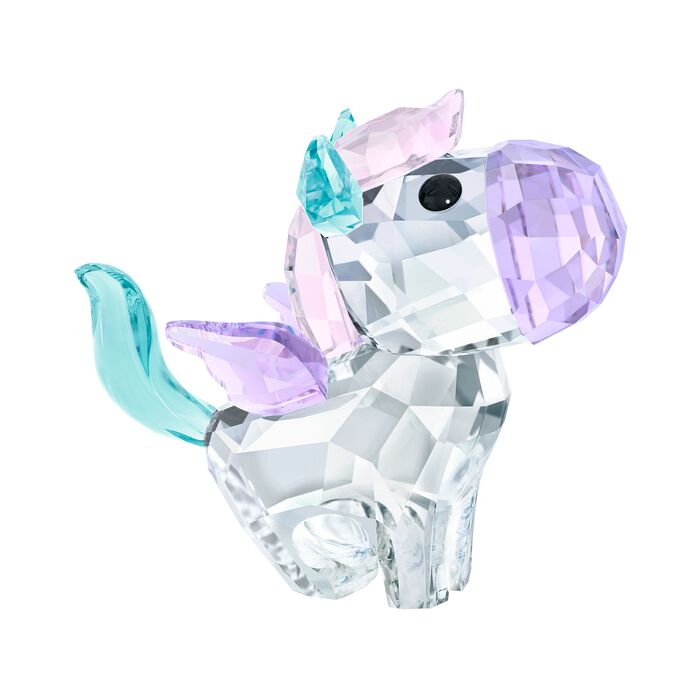 "Swarovski Crystal ""Pegasus"" Purple and Blue Crystal Figurine"
