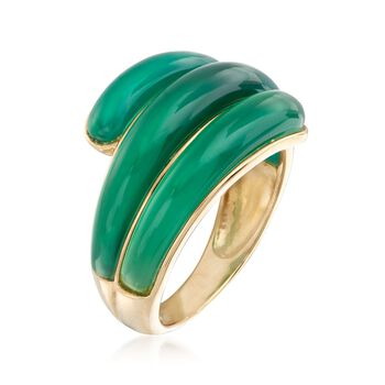 14kt Yellow Gold Green Chalcedony Ring