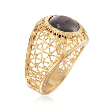 Italian 5.50 Carat Garnet Dome Ring in 14kt Yellow Gold, , default