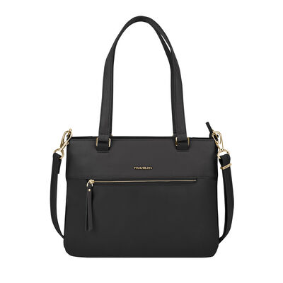 "Anti-Theft ""Addison"" Black Tote Bag"