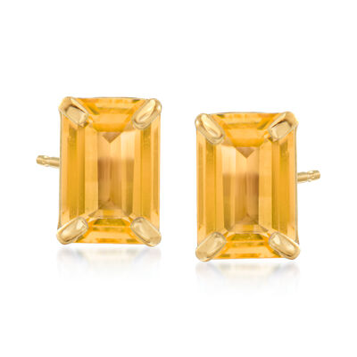1.60 ct. t.w. Citrine Stud Earrings in 14kt Yellow Gold