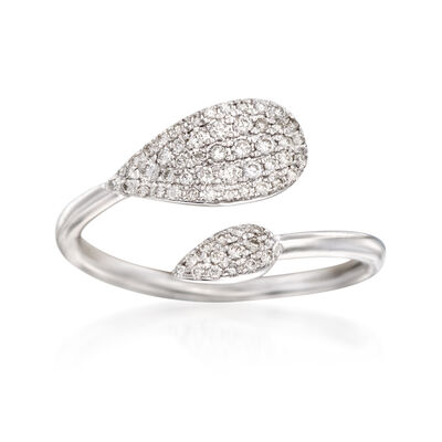 Gabriel Designs .26 ct. t.w. Diamond Bypass Ring in 14kt White Gold, , default