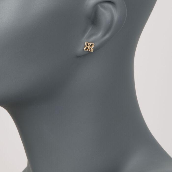 "Roberto Coin ""Princess"" 18kt Yellow Gold Flower Stud Earrings"