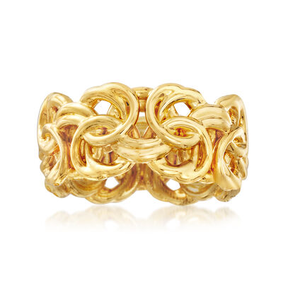 Italian Andiamo Byzantine Ring in 14kt Yellow Gold, , default