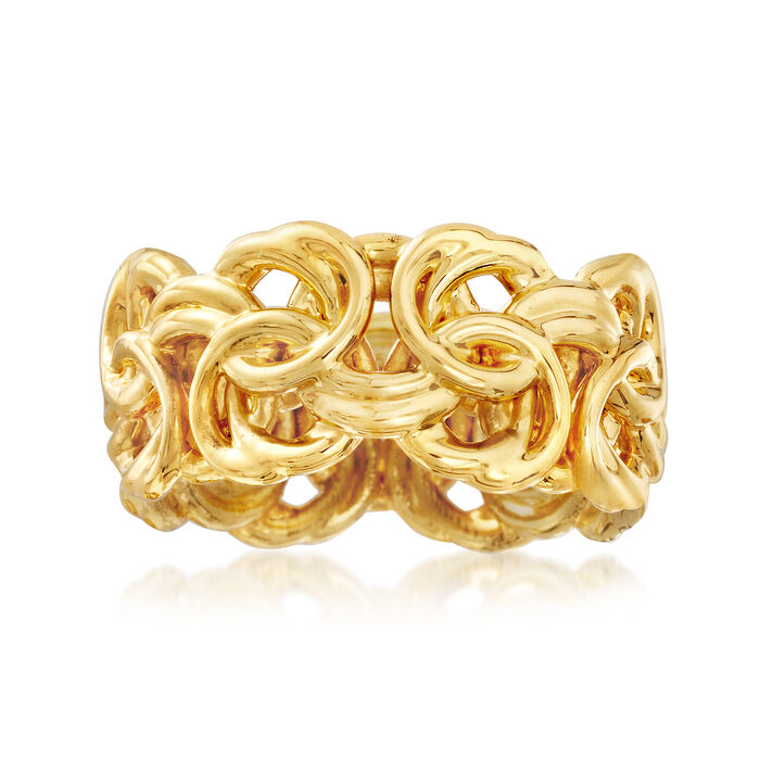 Italian Andiamo Byzantine Ring in 14kt Yellow Gold, , default