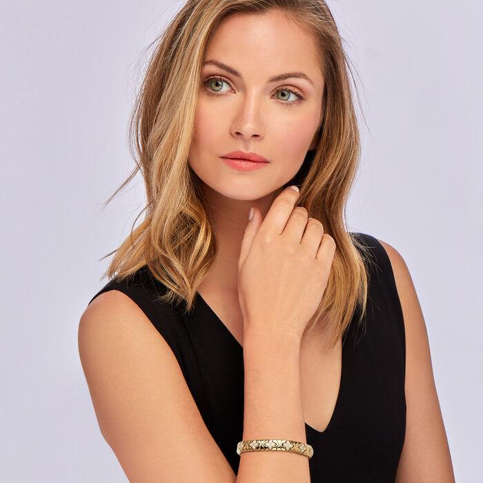 "Roberto Coin ""Princess Flower"" 1.38 ct. t.w. Diamond Bracelet in 18kt Yellow Gold"