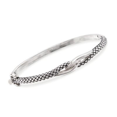 Andrea Candela Sterling Silver Twist Bangle Bracelet, , default