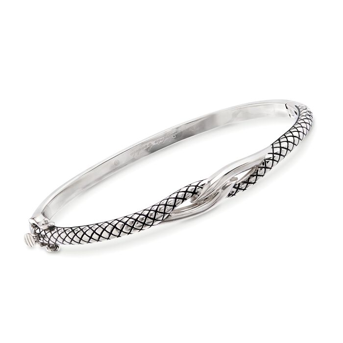 "Andrea Candela Sterling Silver Twist Bangle Bracelet. 7"", , default"
