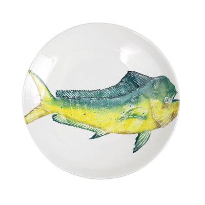 """Vietri """"Pesca"""" Mahi-Mahi Shallow Bowl from Italy"""