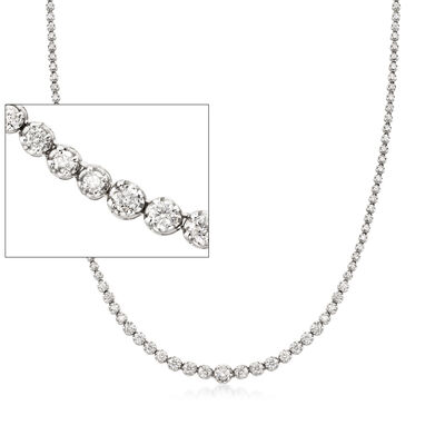 5.00 ct. t.w. Graduated Diamond Tennis Necklace in 14kt White Gold, , default
