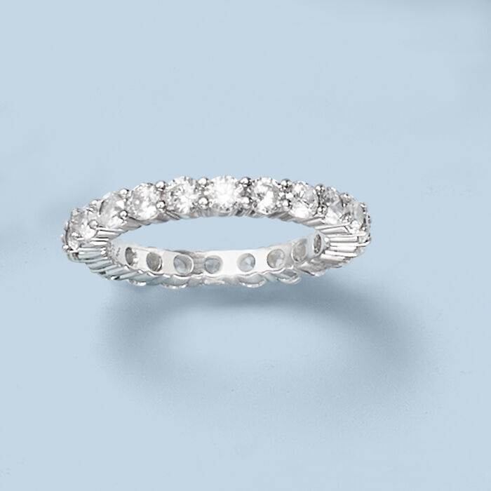 2.00 ct. t.w. CZ Eternity Band in Sterling Silver