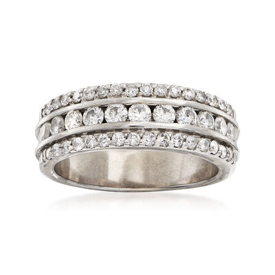 C. 1990 Vintage 1.00 ct. t.w. Diamond Band Ring in 14kt White Gold, , default