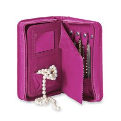 Orchid Pink Microsuede Travel Jewelry Case, , default