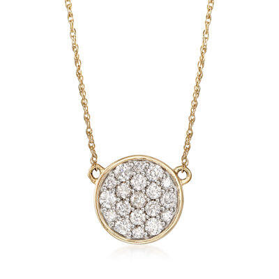 .50 ct. t.w. Diamond Disc Necklace in 14kt Yellow Gold, , default