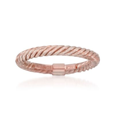 14kt Rose Gold Twisted Ring, , default