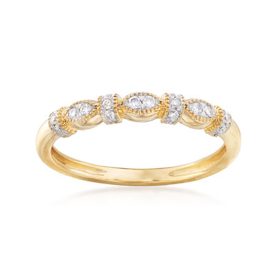 .12 ct. t.w. Vintage-Style Diamond Ring in 14kt Yellow Gold, , default