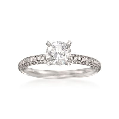 Simon G. .38 ct. t.w. Diamond Engagement Ring Setting in 18kt White Gold, , default