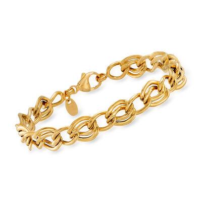 Italian 14kt Yellow Gold Multi-Link Bracelet