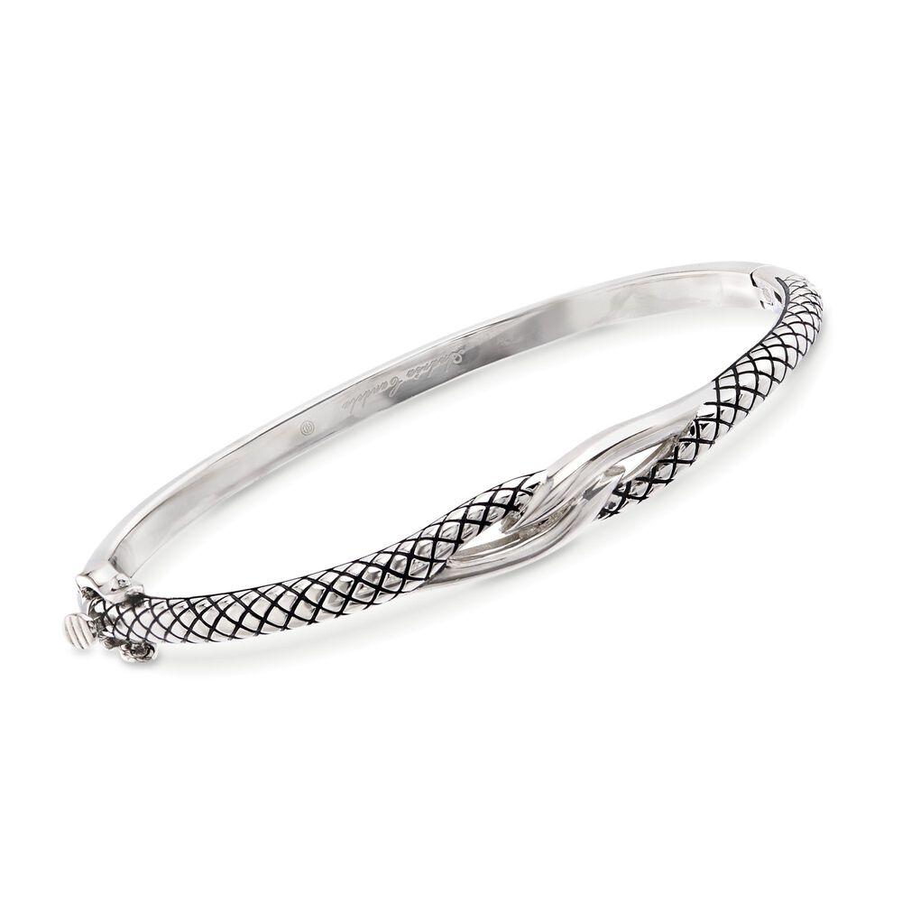 Andrea Candela Sterling Silver Twist Bangle Bracelet