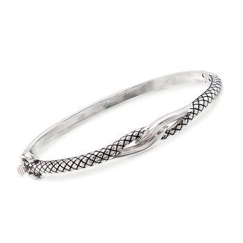 """Andrea Candela Sterling Silver Twist Bangle Bracelet. 7"""", , default"""
